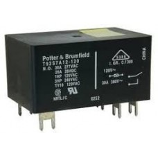 POTTER & BRUMFIELD  T92S7D12-24 POWER RELAY DPST-NO 24VDC, 30A, PC BOARD