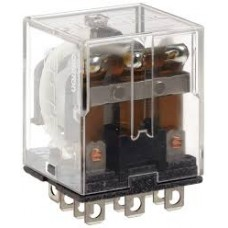 OMRON 24VDC Coil Volts, General Purpose Relay, 10A @ 120VAC/10A @ 24VDC Contact Rating, Square Model # LY3-DC24